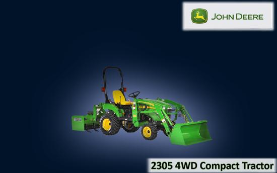 John Deere 2305 4WD Compact Tractor