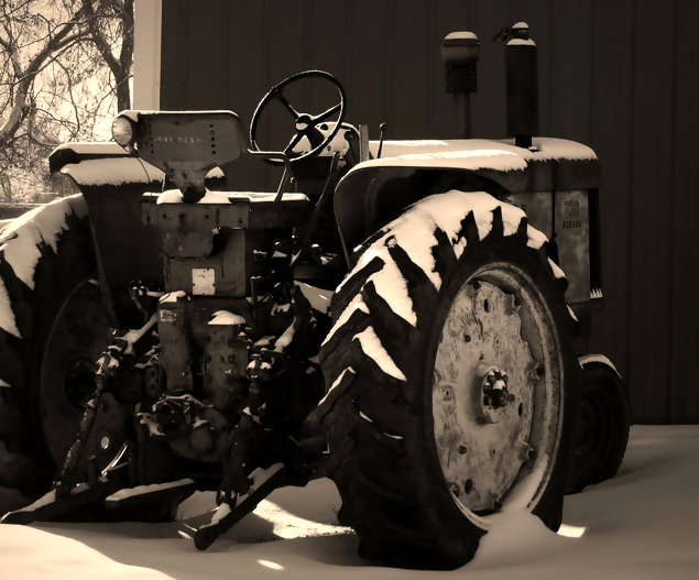 John Deere - Black & White