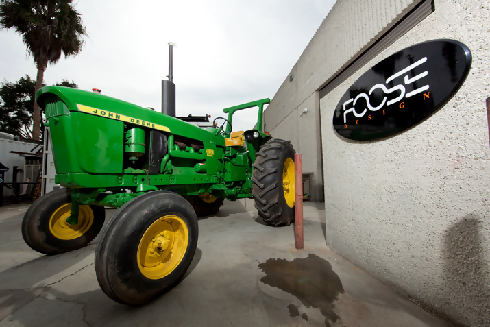 John Deere 4020 Tractor at the Chip Foose Shop