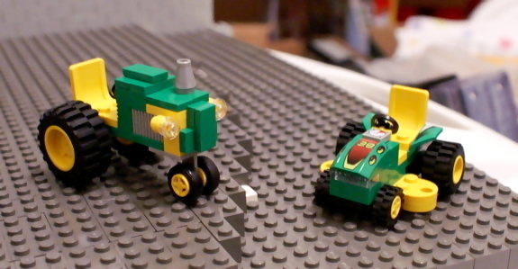 john deere lego lawnmower