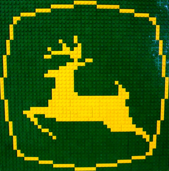 John Deere Gators >> John Deere Lego Tractors and Combines on Display