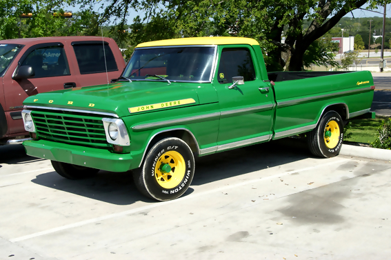 John Deere Trucks. Green Ford