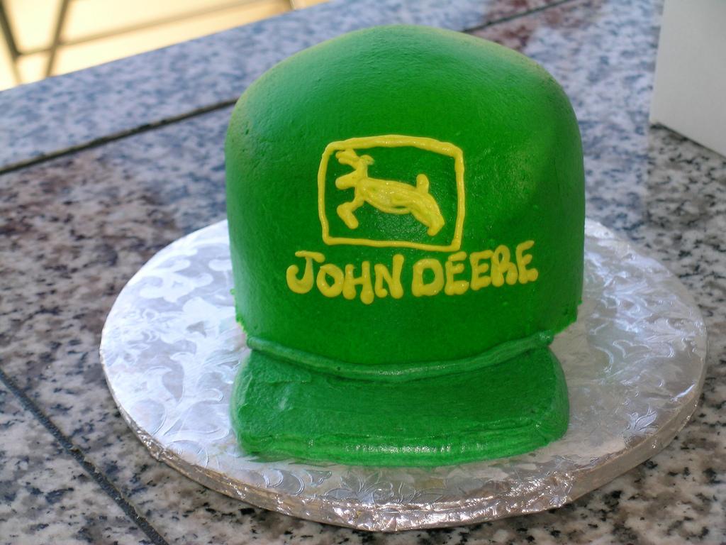 John Deere cake hat