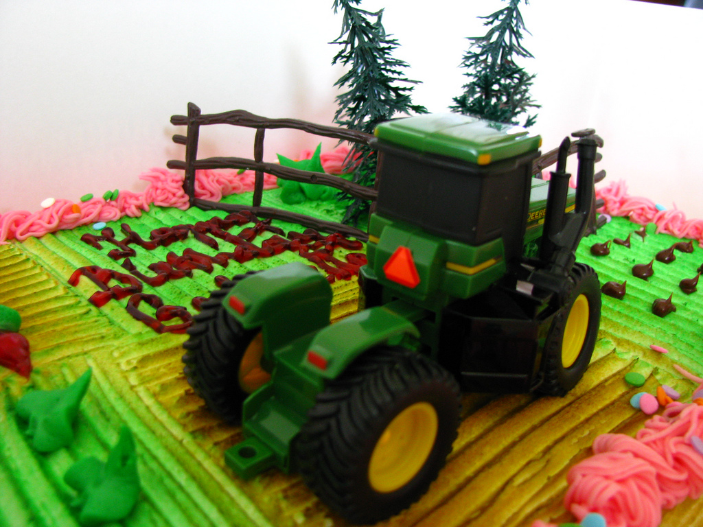 John Deere girl's birthday cake