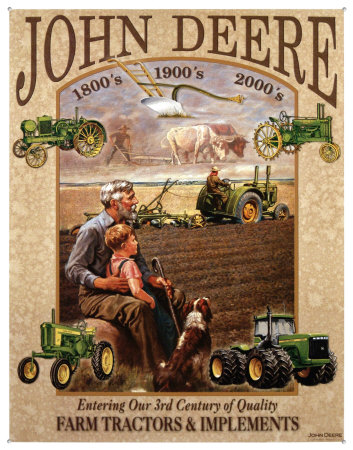 7 Vintage John Deere Posters and Signs