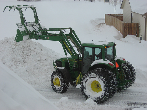 John Deere In The Snow