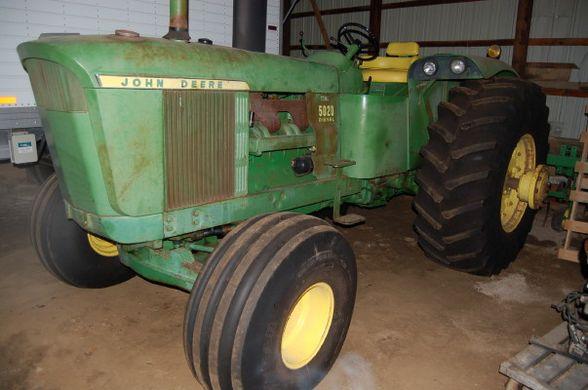 John Deere 5020 Tractor in a barn
