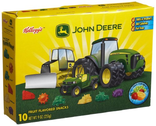 John Deere fruit snacks and treats