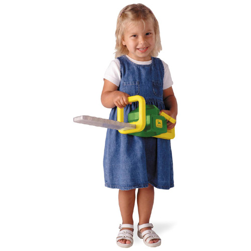 John Deere plastic chainsaw for kids