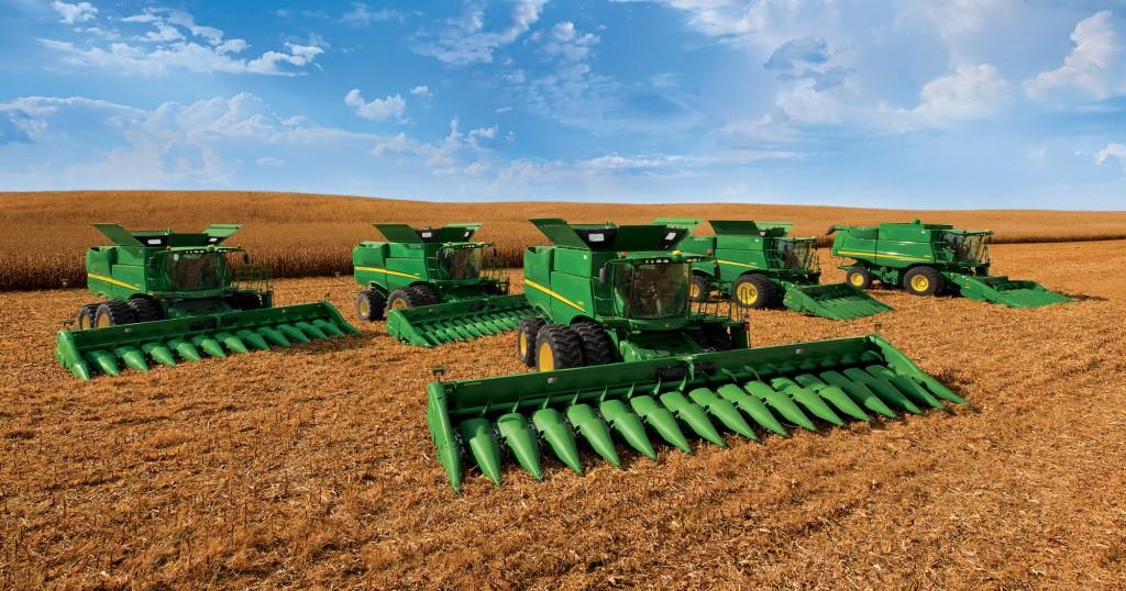 John Deere corn harvester