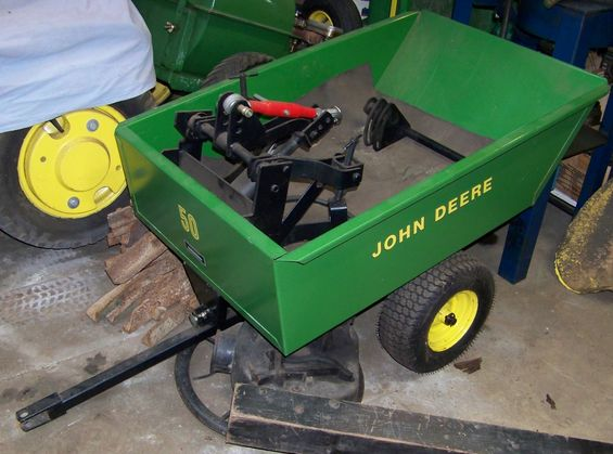 John Deere Lawn Tractor Wagon : Jd garden tractor sold for
