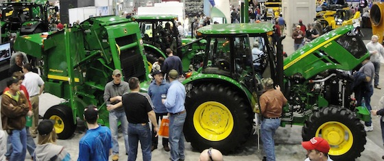 Tractors at National Farm Machinery Show