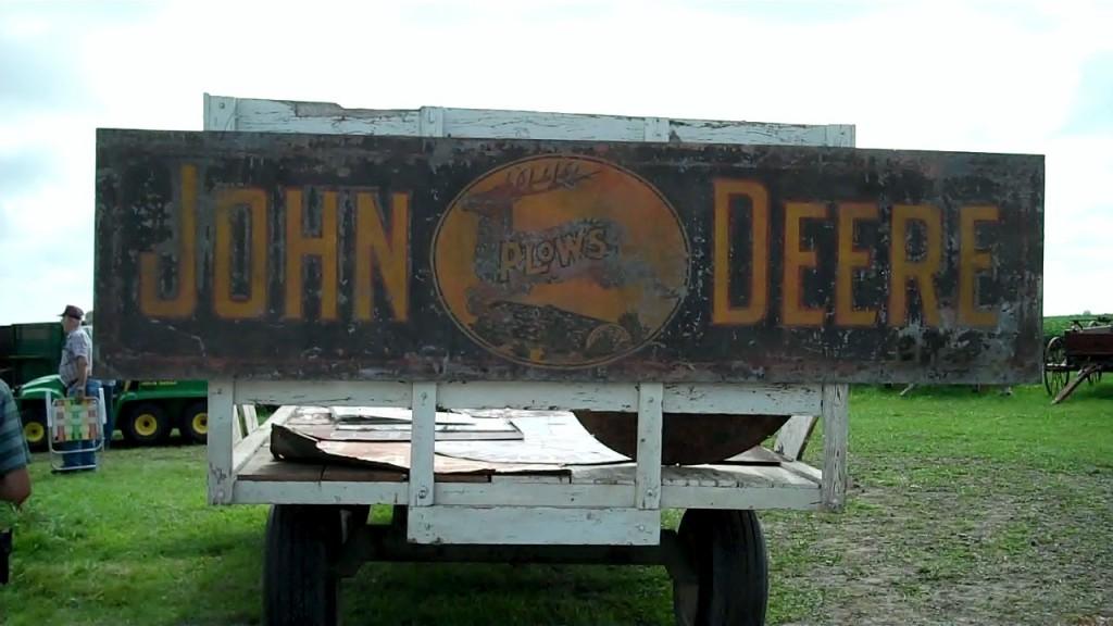 John Deere Antique Sign