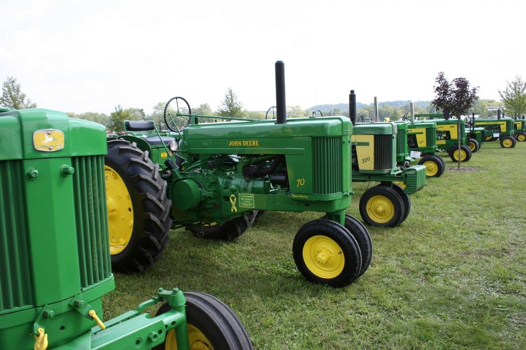 John Deere's at Tractor Show