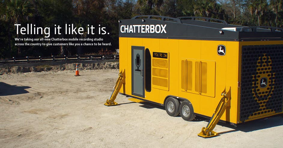 noflash chatterbox Leading the Field: John Deere Provides Feedback Through Chatterbox