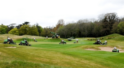 John Deere on the golf course