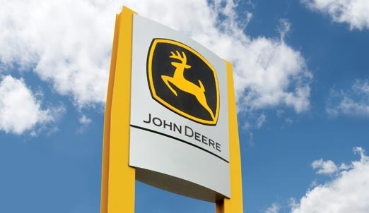 John Deere Construction Sign