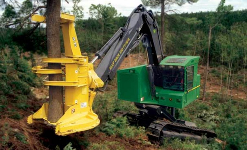 Feller 1024x623 6 John Deere Forestry Machines You May Not Know About
