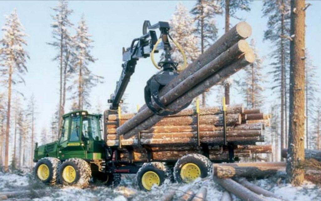 John Deere Forwarder. John Deere Forestry Machines