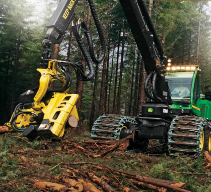 John Deere Harvester. John Deere Forestry Machines