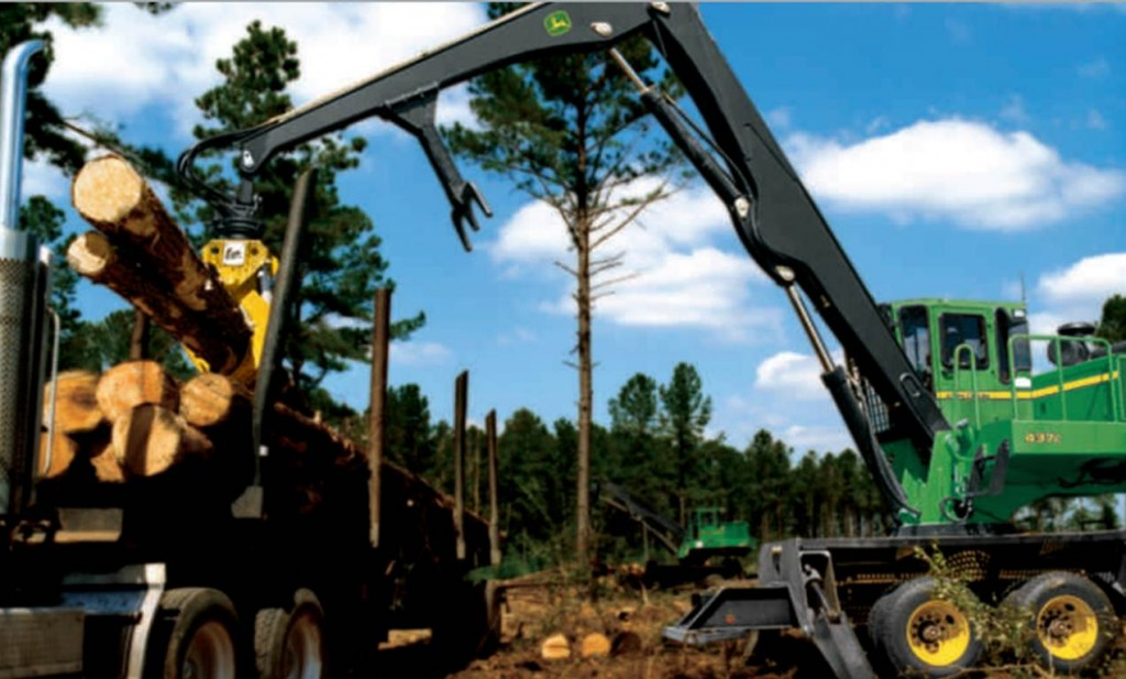 John Deere Knuckleboom Loader. John Deere Forestry Machines