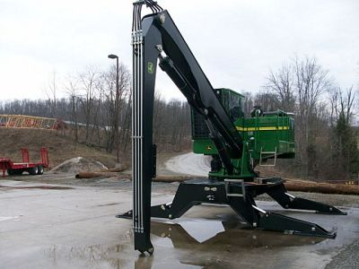 used heavy equipment  knuckleboom