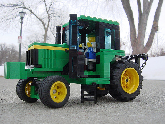lego farm tractor The Best John Deere Lego Structures