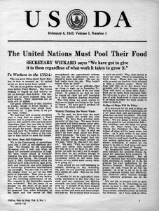 USDA newsletter 1942