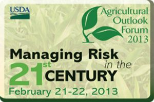 30 students attended the 2013 USDA Ag Outlook Forum to hear from Ag industry leaders