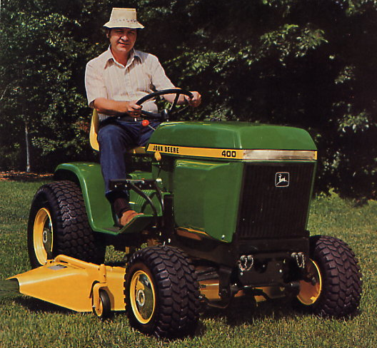 fire up your john deere 400 lawn tractor to get ready for