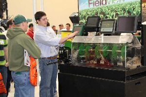 John Deere was just one of hundreds ag-related companies exhibiting at the 2013 Iowa Power Farming Show