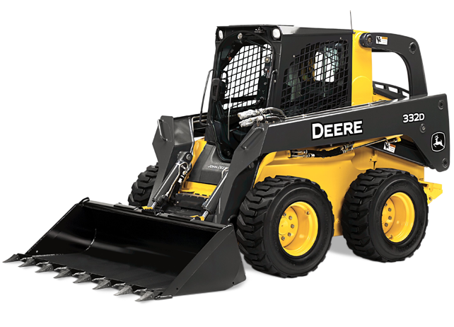 John Deere's newest skidder model; the 332D