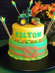 John Deere cake for a John Deere birthday party theme