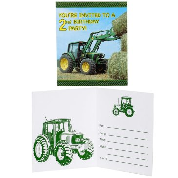 John Deere birthday party invitation