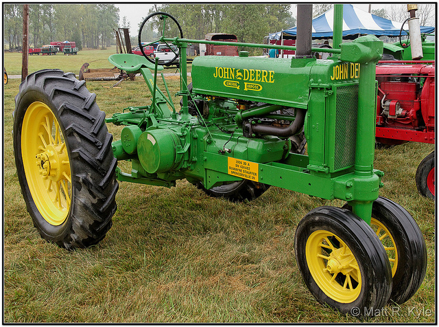 John Deere Model A Tractor in a field