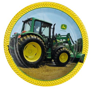 John Deere plate for a John Deere birthday party theme