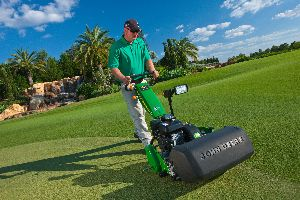 John Deere & Company displayed a wide range of golf equipment and products at the 2013 GIS