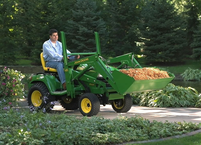 Used Lawn Tractor With Front Loader : John deere loader compatible tractors