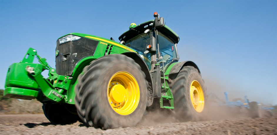 John Deere 7 Series Tractor with Large Tires