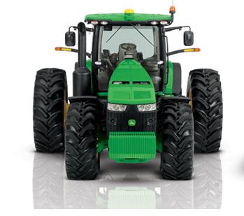 John Deere Tractor deep treaded tires