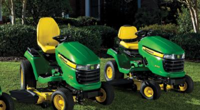 John Deere ride-on lawn tractors