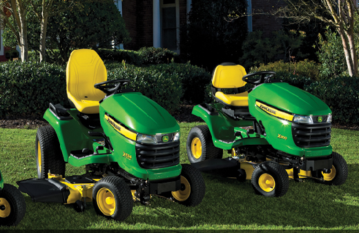 John Deere ride-on lawn tractors