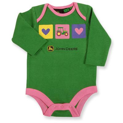 John Deere Baby Girl Onseie