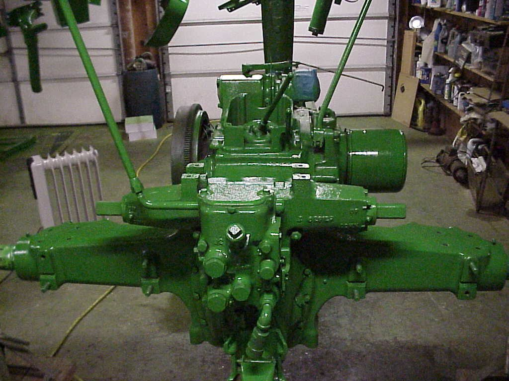 John Deere restoration with paint