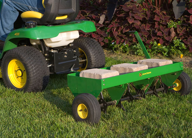 JD 48-inch Plug Aerator lawn tractor attachment