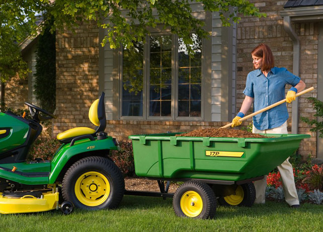 JD Lawn Tractor Poly Cart attachment