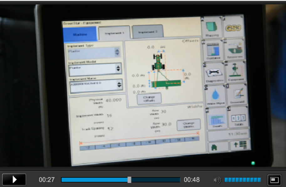 John Deere FarmSight user interface
