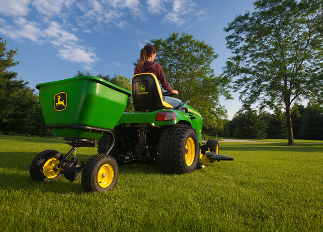 Spring yard care with JD spreader