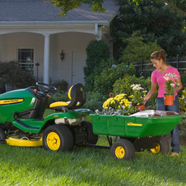 John Deere utility cart for lawn tractor mower
