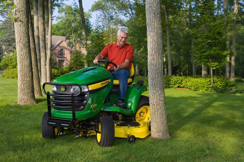 adjustable mower deck of JD X500 lawn tractor